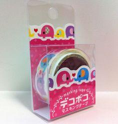 Kawaii Japan Deco Masking Tape:DecoPoco Series II Elephant Family