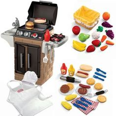 Backyard Barbecue™ Get Out n Grill Bundle from #littletikes Kids can do the grilling with this pretend bbq set.