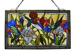 Fine Art Lighting Tiffany Window Panel 28 by 17Inch 363 Glass Cuts -- Details can be found by clicking on the image.