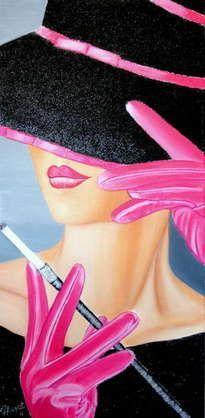Cross Stitch Patterns Beautiful Lady Cross Stitch Pattern-Printable Lady in Pink Pattern-Digital Lady Cross Stitch Pattern-Digital Embroidery-PDF File Cross Stitch Embroidery, Embroidery Patterns, Cross Stitch Patterns, Moda Art Deco, Pink Patterns, Art Deco Fashion, Female Art, Pink Ladies, Beautiful Women
