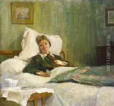 Countess Markievicz On Her Deathbed oil painting by Casimir Dunin, Count Markiewicz, The highest quality oil painting reproductions and great customer service! Wild Irish Rose, Saints And Sinners, Oil Painting Reproductions, Great Women, Mists, Mythology, Literature, Hand Painted, History