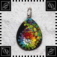 Pendant++Paisley+wavingRainbow+Pride+by+by+BusyhandsVeronica,+$55.99