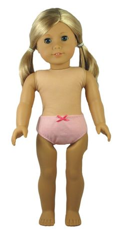 Every American Girl Doll needs Underpants. Now you can make a new pair for each day of the week with this easy doll clothes underpants pattern.  Downloadable PDF pattern comes with free video tutorials.