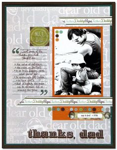 Good Grief Blog - Galleries - List things he/she taught you #scrapbooking #death #toughtimes