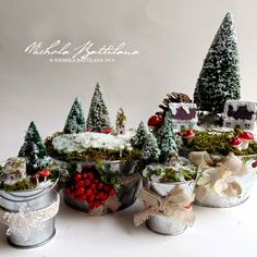 Little winter dioramas - Nichola Battilana