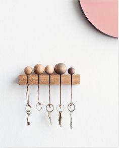 Schöne Schlüsselhalter-Idee zum Nachmachen.