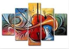 Stretched/ Framed Modern Oil Painting Canvas