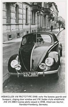 OG | 1949 Volkswagen / VW Hebmüller Typ14A | Prototype dated 1948