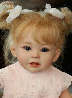 Reborn Toddler Bonnie by Linda Murray and Puddin 039 Cake Babies Life Like Baby Dolls, Life Like Babies, Baby Girl Dolls, Reborn Baby Dolls, Cute Babies, Reborn Toddler, Bitty Baby, Custom Dolls, Baby Love