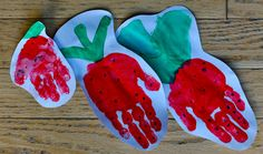 Handprint Strawberry- I love you berry much!