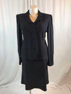 #STJOHNKnits Collection Black Suit 2 Pieces Blazer/Skirt #instashopping #cybermonday #shopaholic #deals #me #eBay http://www.ebay.com/itm/172928026223