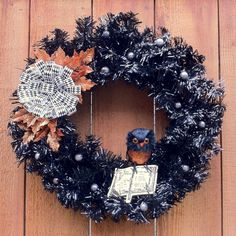 Halloween Wreath - Make you door extra spooky with this handmade Halloween wreath from Created By Jess.