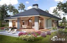 Miriam V - Dobre Domy Flak & Abramowicz Modern Bungalow House, Bungalow House Plans, Modern House Plans, Small House Plans, Modern Bungalow Exterior, Beautiful House Plans, Beautiful Homes, Small House Design, Modern House Design