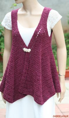 Vesta crosetata; tutorial pas cu pas Crochet Top, Crochet Patterns, Wool, Handmade, Fashion, Art Crafts, Stuff Stuff, Crochet Designs, Sweater Vests
