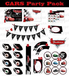 CARS printable birthday party