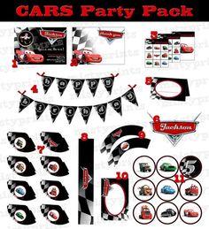 CARS printable birthday party