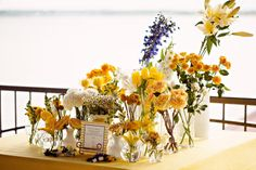 """Create your own bouquet bar with florals from Poppy Lane design in Jane Kelly Weddings & Parties's nautical """"All in the Details."""" So original! Photo by Mann Paul Photography. Diy Wedding, Wedding Flowers, Wedding Ideas, Rustic Elegance, Rehearsal Dinners, Poppies, Create Your Own, Projects To Try, Bouquet"""