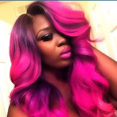 Can I just tell my how much I loveeeeee this color💖💖. This is the prettiest pink dyed hair I have seen I need this in my life😍😍 Weave Hairstyles, Pretty Hairstyles, Protective Hairstyles, Hairdos, Pretty Hair Color, Hair Tape, Natural Hair Styles, Long Hair Styles, Queen Hair