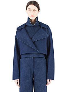 Charlie May Cropped Denim Coat   LN-CC