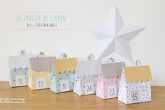 Christmas Time - Le Village Advent Calendar Papercraft - by Zu Galerie