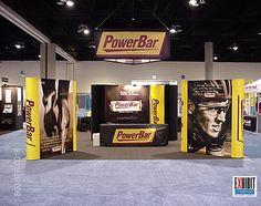 Multiple pop up displays can create a much larger booth display than just a 10 x 10.