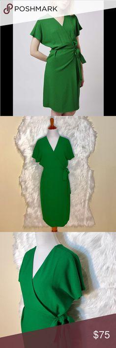 Selling this Topshop Green Maternity Wrap Dress on Poshmark! My username is: onas. #shopmycloset #poshmark #fashion #shopping #style #forsale #Topshop MATERNITY #Dresses & Skirts
