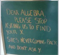 Funny alegebra joke.