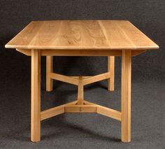 Hayrake table in white oak by John Bullar