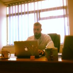 #TCC currently working on website. The boss getting his hands dirty with web design #TownsendCavendishChadwick