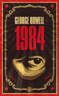 George Orwell's 1984, book design by Shepard Fairey