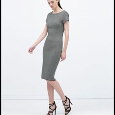 Zara dress Knee length jacquard knit dress, size M. This is one of those pieces that I personally think run small, so it fits S/M. New with tags :) Zara Dresses Midi
