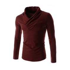Slim Fit Shawl Collar Dress Style Basic Long Sleeve Cotton Tshirt Wine Mens | Price: ฿912.37 | Brand: TheLees | From: Home Appliances 2017 - รวมสินค้า เครื่องใช้ไฟฟ้าในบ้าน และ เครื่องใช้ไฟฟ้าในครัว ราคาพิเศษ | See info: http://www.home-appliances-2017.com/product/10903/slim-fit-shawl-collar-dress-style-basic-long-sleeve-cotton-tshirt-wine-mens