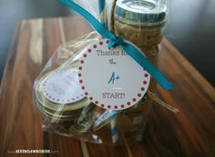 Thanks for the A+ Start {FREE} Tags for Teacher Appreciation