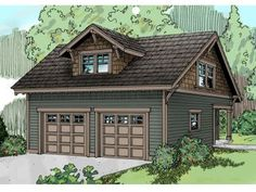 Two car garage with guest room above.