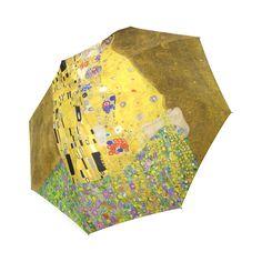 The Kiss Gustav Klimt Fine Art Foldable Umbrella