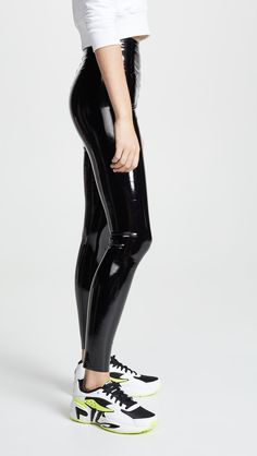 commando Womens Faux Patent Leather Perfect Control Leggings Black Large * Find out more about the great product at the image link-affiliate link. Pvc Leggings, Camouflage Leggings, Vinyl Leggings, Cheap Leggings, Floral Leggings, Colorful Leggings, Printed Leggings, Leggings Sale, Awesome Leggings