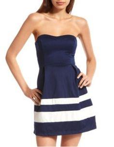 navy blue & stripes