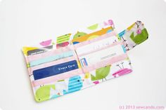 Sew Can Do: Organize In Style: Chic Pocket Laminated Fabric Wallet Tutorial