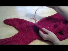 How to loom knit a Mermaid tail - PART 1 - YouTube