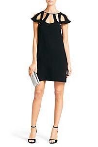 DVF Achava Dress in Black