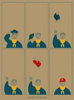 Illustrations by Eduardo Salles aka Cinismo Ilustrado Satire, Animiertes Gif, Satirical Illustrations, Meaningful Pictures, Funny Memes, Hilarious, It's Funny, Humor Grafico, Funny Kids