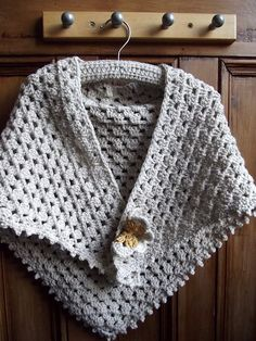Girls crochet shawl scarf cape with detachable by dollycalledtopsy, £24.00