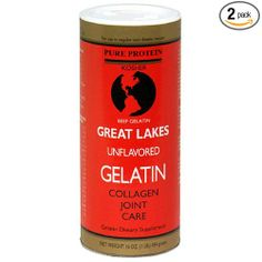 Great Lakes Unflavored Gelatin, Kosher, 16-Ounce Can (Pack of 2): Amazon.com: Grocery & Gourmet Food
