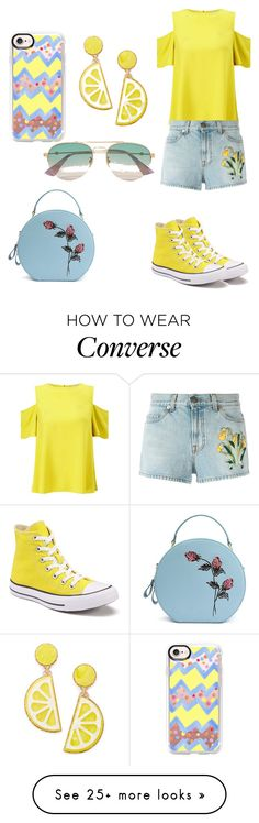 """""""Lemon Yellow trend"""" by shreyaroy994 on Polyvore featuring Casetify, Miss Selfridge, Gucci, Converse and Celebrate Shop"""