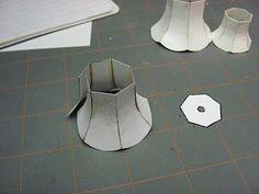 Dollhouse Miniature Furniture - Tutorials   1 inch minis: How to make a miniature lamp shade