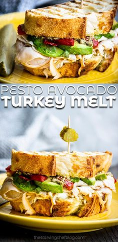Best Panini Recipes, Hot Sandwich Recipes, Lunch Recipes, New Recipes, Healthy Recipes, Healthy Meals, Healthy Food, Gourmet Sandwiches, Delicious Recipes