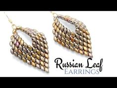 How to make a Russian Leaf Earrings - Miniduo DIY Beading Ideas - - YouTube