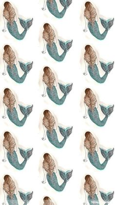Mermaid Pattern ★ Find more preppy wallpapers for your #iPhone + #Android…
