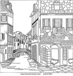 Architectural Art: A Stress Management Coloring Book For Adults Adult Coloring Book Pages, Colouring Pages, Coloring Books, Ilustración Megan Hess, Pumpkin Drawing, Doodle Art Journals, Black And White Drawing, Pictures To Draw, Easy Drawings