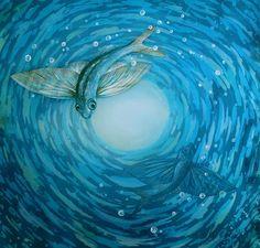"""Batik: """"Dance of feelings"""" by Irina Minaeva"""